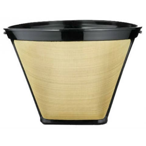 Medelco GF214CB 4-Cone Permanent Golden Coffee Filter, 8-12 Cup