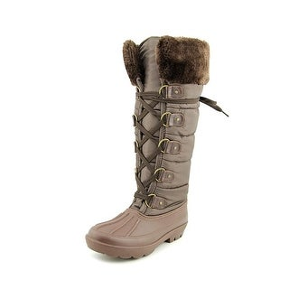 Dirty Laundry Blackfrost Women Round Toe Canvas Brown Winter Boot