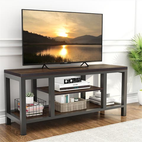 TV Stand, 59 Inches Industrial Rustic TV Console for 60 Inches TV