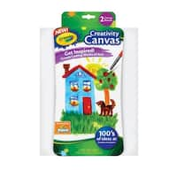 Crayola Canvas Board, 9 x 11 in, White, Pack of 2