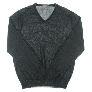 Canali Mens Wool KNit V-Neck Sweater - XXL
