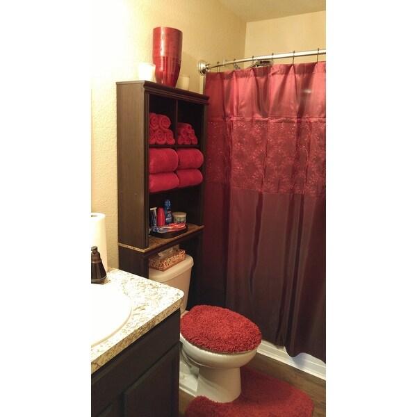 Shop Copper Grove Wakulla Red Shower Curtain