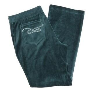 Style & Co Velour Embellished Track Pants Women Regular Fashion Sweatpants