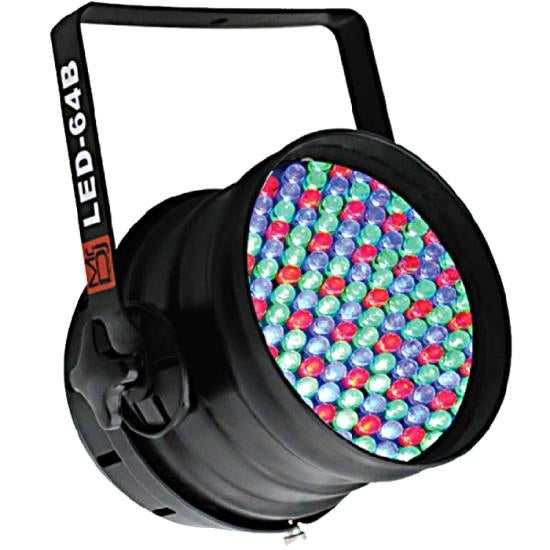 DMX 6-Channel Dimmer/Strobe Automatic Running LED PAR 64 Stage Lighting (Black)