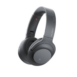 Sony - H900N Hi-Res Noise Cancelling Wireless Headphone Grayish Black - 6.9 x 4.5 x 7.9
