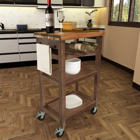 Porch & Den Bautzen Rolling Utility Cart