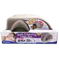 Omega Paw  Inc. - Self-cleaning Litter Box- Brown-taupe Large - RALG4