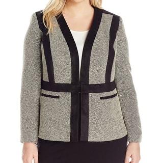 Kasper NEW Beige Womens Size 18W Plus Faux-Suede-Trim Tweed Blazer|https://ak1.ostkcdn.com/images/products/is/images/direct/b24013d2cb6c1a5cd12eb7d6828500ffe96291bc/Kasper-NEW-Beige-Womens-Size-18W-Plus-Faux-Suede-Trim-Tweed-Blazer.jpg?impolicy=medium