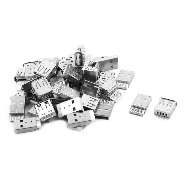 USB 2.0 A Type Female+Male PCB Mount Repair Parts USB Port Connector 26 Pairs