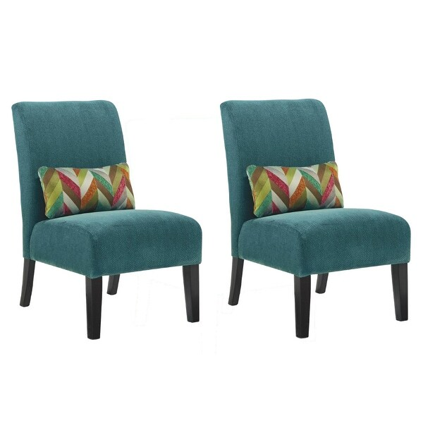 Shop Ashley Furniture Annora Accent Chair W Faux Wood Finish Set