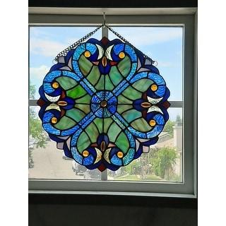 River of Goods Mini Halston Glass 12-inch Panel