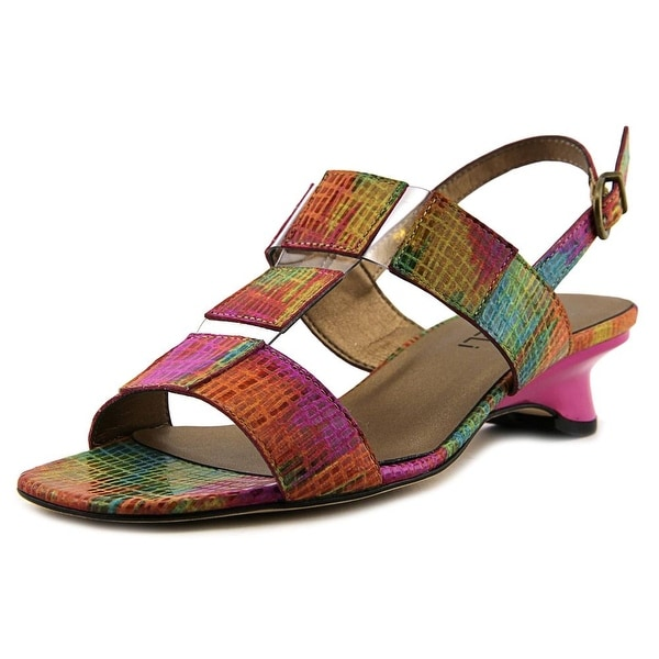 Vaneli Berdine W Open-Toe Leather Slingback Sandal