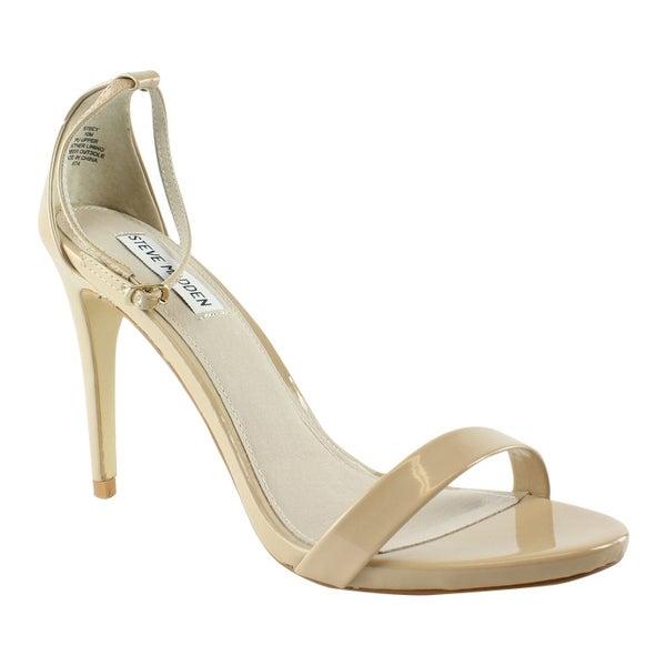 1e87ec4e014c Shop Steve Madden Womens Stecy BlushPatent Ankle Strap Sandals Size ...
