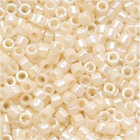 Miyuki Delica Seed Beads 11/0 Opaque Cream AB DB157 7.2 GR