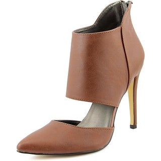 Michael Antonio Lamont Women Pointed Toe Synthetic Brown Heels