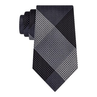 Kenneth Cole Reaction Mens Neck Tie Checkered Textured - o/s