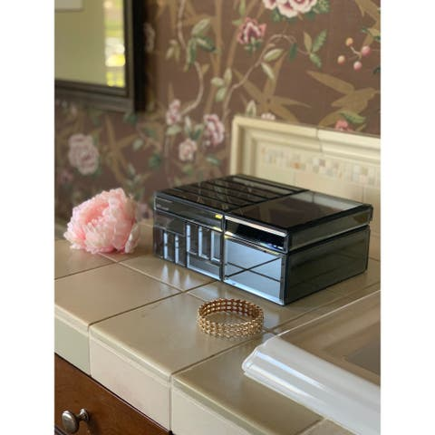 Cary 10-Inch Mirrored Jewelry Box
