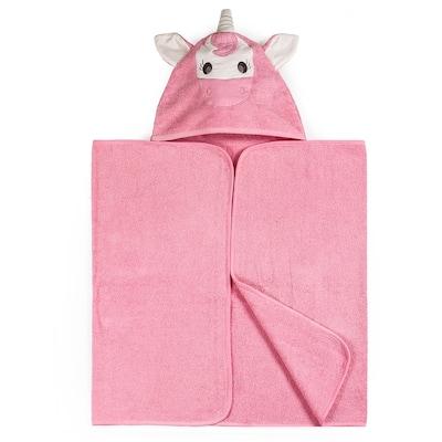 "Kids Bath Collection 27"" x 54"" Cotton Hooded Bath Towel - 54""L x 27""W x 1""H"