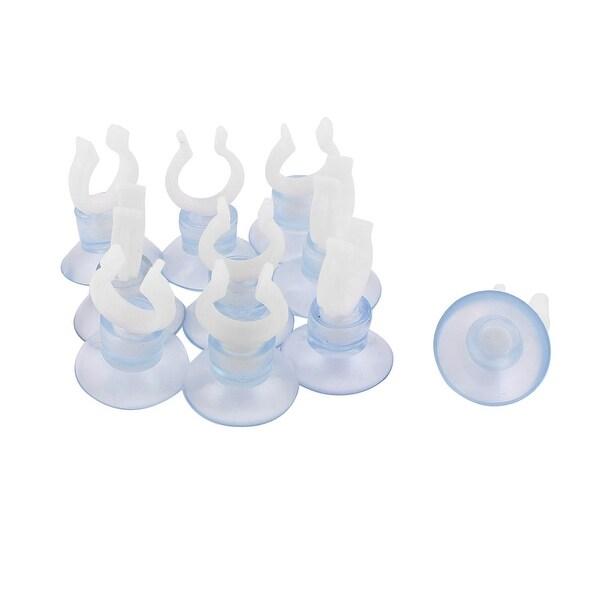 Unique Bargains Aquarium Fish Tank Airline Tubing Suction Cup Holders White  Blue 10Pcs