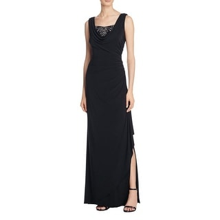 Adrianna Papell Womens Evening Dress Matte Jersey Ruched