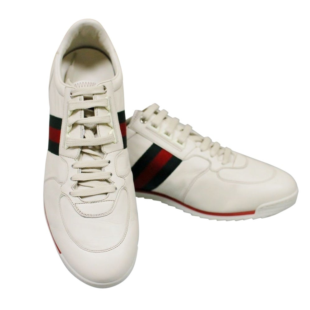 Gucci White Leather Running Shoes Sneakers 243825