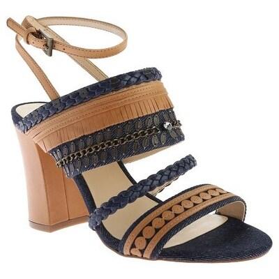 Nine West Women's Baebee Denim Heeled Sandal