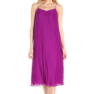 Maggy London Womens Pleated Spaghetti Strap Shift Dress