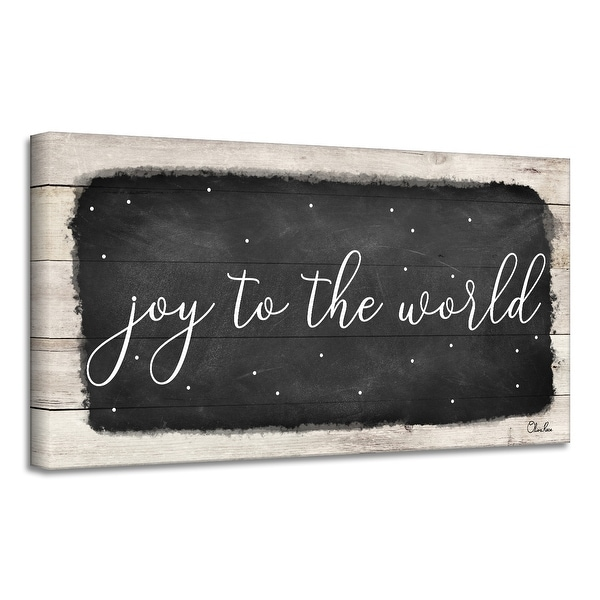 Ready2HangArt 'Joy to the World' Holiday Canvas Wall Art by Olivia Rose. Opens flyout.