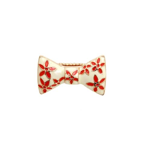 Flower Bow Stretch Fashion Gold Ring