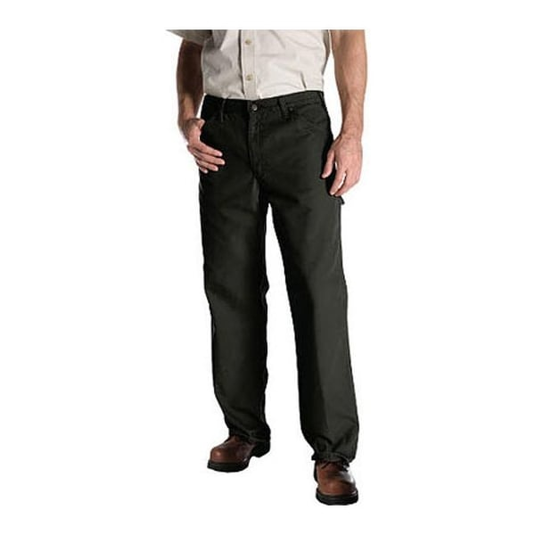 """Dickies Men's Relaxed Fit Duck Jean 30"""" Inseam Moss"""