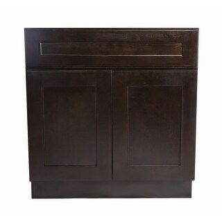 """Design House 562074 Brookings 33"""" Wide x 34-1/2"""" High Double Door Base Cabinet with Single Drawer - ESPRESSO - N/A"""