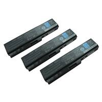 Replacement 4400mAh Toshiba PA3728U  Battery for EX/46 / SS M50 / TX/77 Dynabook Laptop Series (3 Pack)