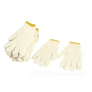 12 Pairs Protective ESD Anti-static Cotton Yarn Working Gloves