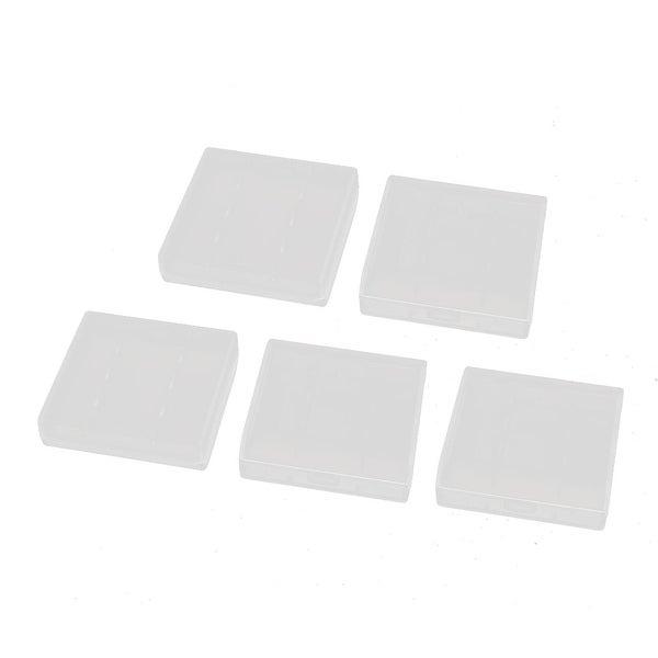 5Pcs Transparent Storage Case Hard Plastic Battery Organizer for R6 AA Batteries