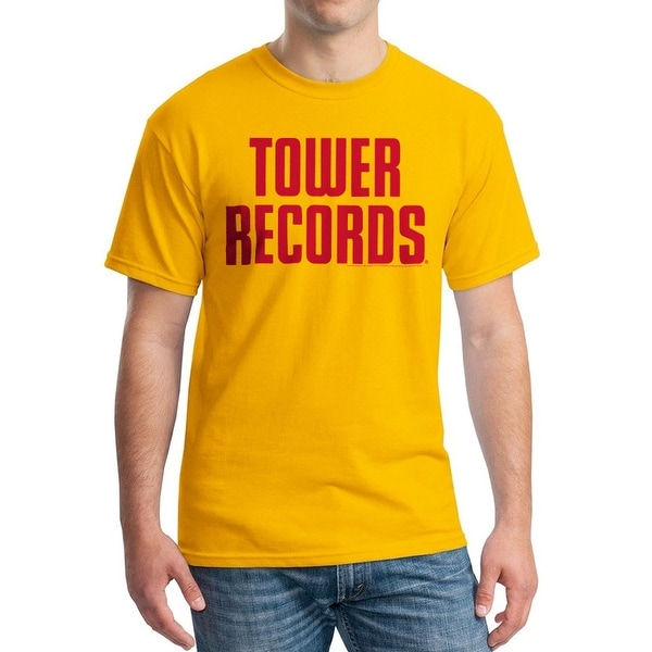 Tower Records Vintage Stack Men's Gold T-shirt