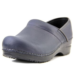 Sanita Katrine Closed Women Round Toe Leather Blue Clogs
