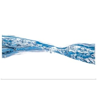 """""""Water waves and bubbles"""" Poster Print"""