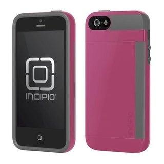 Incipio Stowaway Case for Apple iPhone 5 - Pink/Gray (IPH-855)