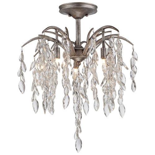 Metropolitan N6865-278 8 Light Semi-Flush Ceiling Fixture from the Bella Flora Collection