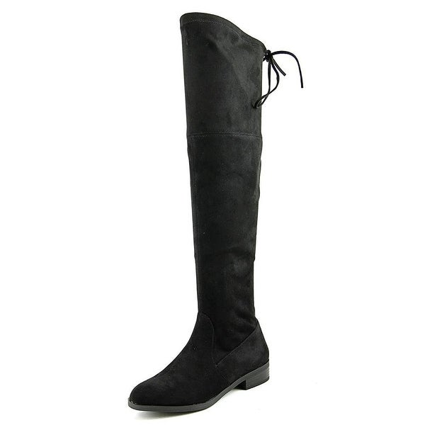 INC International Concepts Imannie Women Canvas Black Over the Knee Boot - 7.5