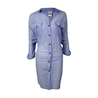 Dotti Women's Plus Shirtdress Cover Up