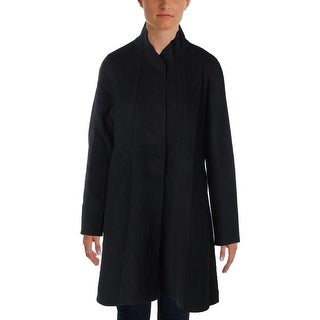 Eileen Fisher Womens Coat Wool Solid - M