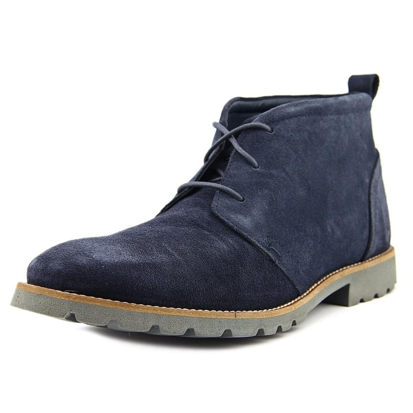 Rockport Charson Men  Round Toe Suede Blue Chukka Boot
