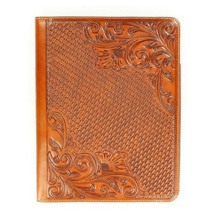 M&F Western iPad Case Cover Basket Weave Floral Brown 0618208