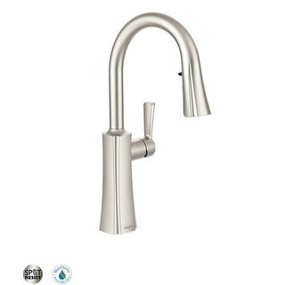 Moen S72608  Etch Pull-down Spray High Arc Kitchen Faucet with Reflex Technology