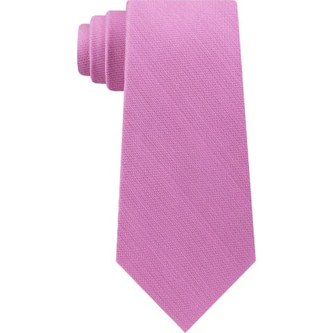 Michael Kors Mens Luxe Neck Tie Silk Blend Professional - Pink - O/S