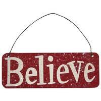 Glitter Believe Ornament