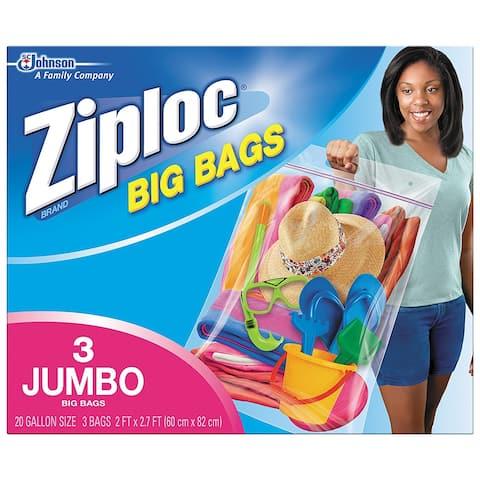 Ziploc 65645 Extra Heavy Duty Big Bags, XXL, 3-Pack
