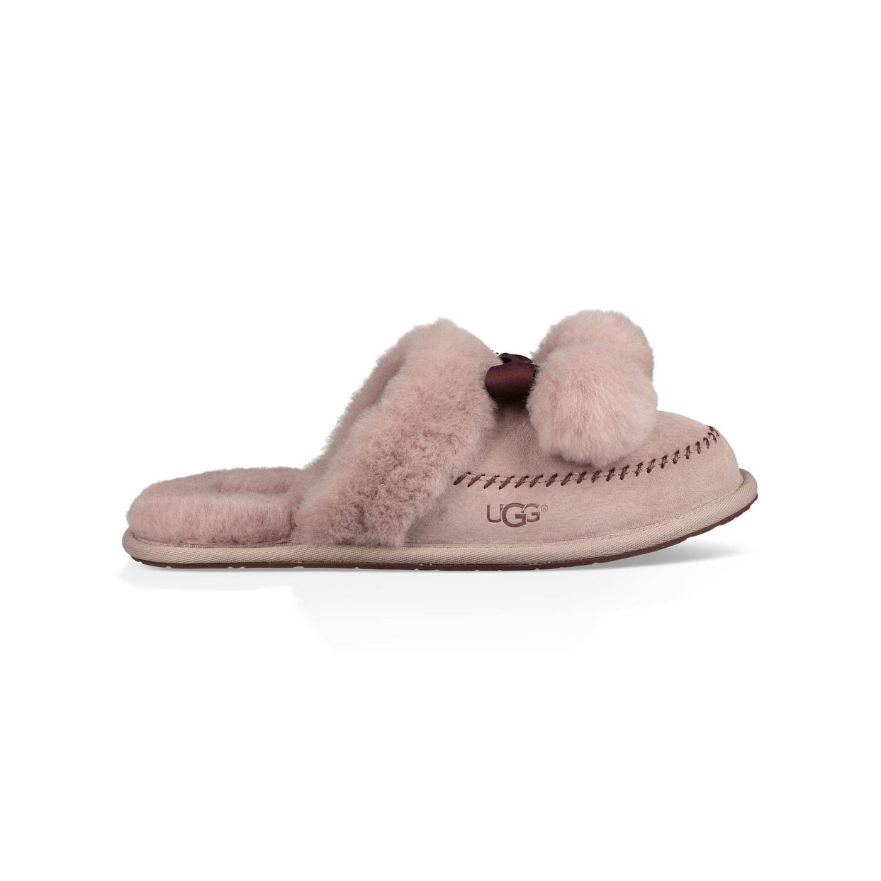 91213a1b52 Shop Ugg Womens Hafnir Leather Closed Toe Slip On Slippers - Free ...
