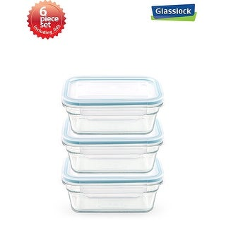 Shop Glasslock Rectangular Food Container 6 Piece Set 16cups378ml